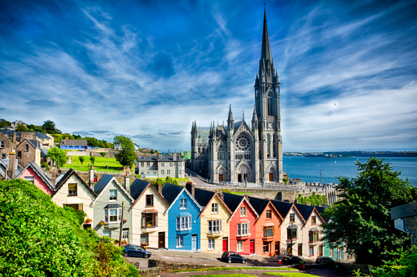 "Cobh Village and Their ""Deck of Cards"" Homes"